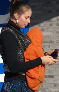 Před chladem ochrání miminko kapsa BabyDos z valchované vlny